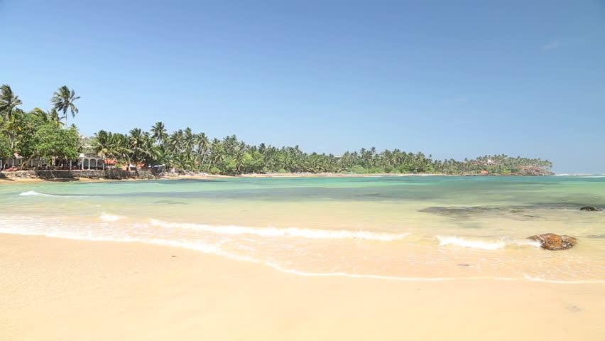 Paradise tropical sandy beach in Mirissa, Sri Lanka. | Shutterstock HD Video #8278030