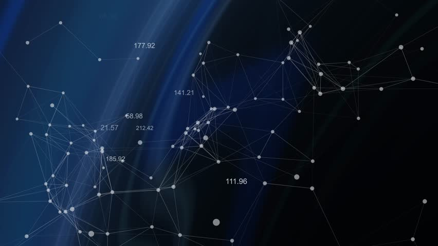 Abstract constellation lines dots technology blue background | Shutterstock HD Video #8319961