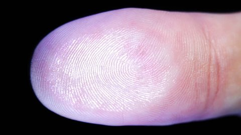 Leave a thumb print on the glass