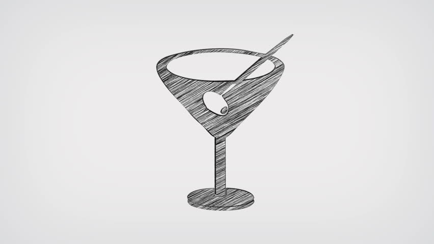 Cocktail Drink Whiteboard Stop-Motion Style Animation | Shutterstock HD Video #8344000