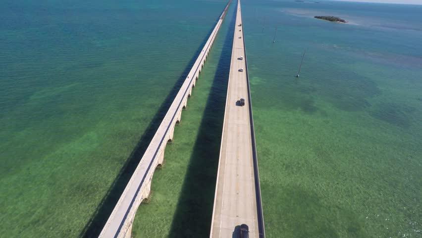 Seven Mile Bridge Florida Keys aerial video
