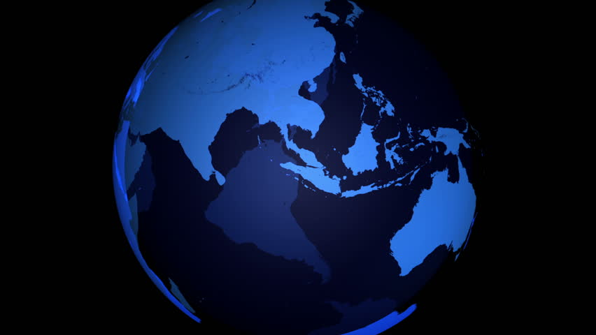 Night globe animation stock footage video 166552 shutterstock blue earth 3d motion graphic with alpha pulling out to frame blue earth spinning earth gumiabroncs Choice Image
