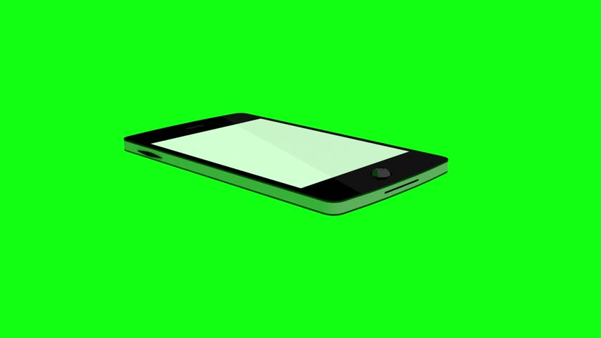 Smartphone and diagram on green background | Shutterstock HD Video #8377210