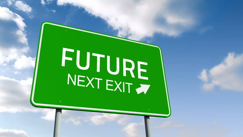 Super Stock Video Clip of The Future next exit road sign   Shutterstock YF55