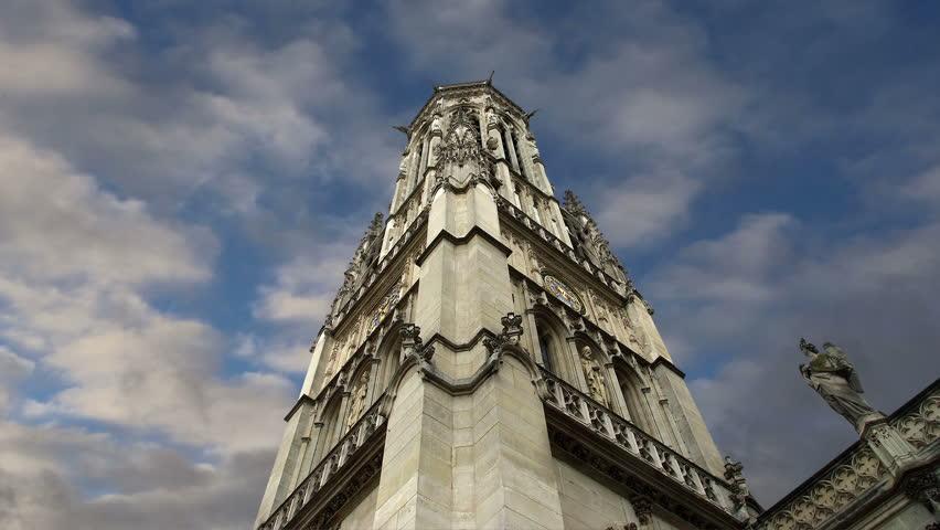 The Church of Saint-Germain-l'Auxerrois, Paris, France | Shutterstock HD Video #8430070
