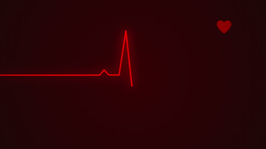 Ecg cardiogram monitor with pulsing red line to determine your health with pulsing heart. Beep sound   Shutterstock HD Video #8442280