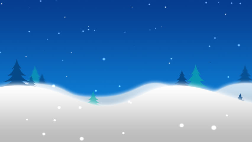 North Pole holiday background animation with merry christmas in french, english, spanish and german