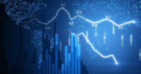 Positive Financial chart In 4K