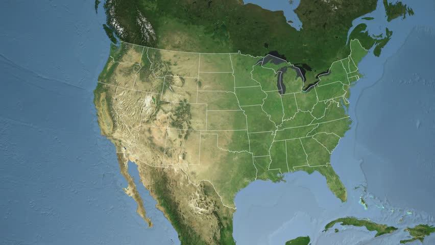 South Carolina Map Stock Footage Video Shutterstock - South carolina on usa map