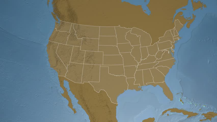 Utah Map Stock Footage Video Shutterstock - 4k image of us map