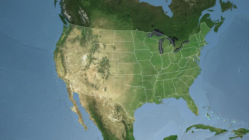 Zooming Into Montana America Stock Footage Video - Montana state usa map