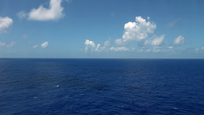 view of ocean from cruise