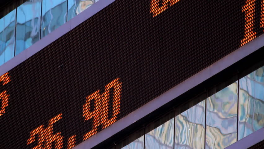 Stock market ticker, close-up, NYC | Shutterstock HD Video #856390