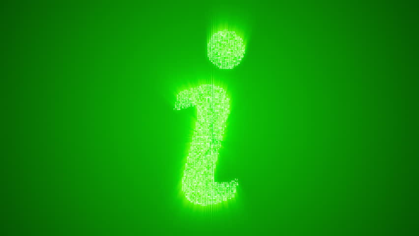 Numbers And Symbols Form A Music Note Icon On Green Background More