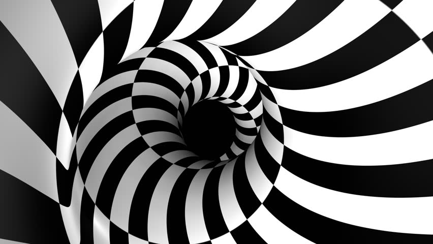 black and white spiral animation