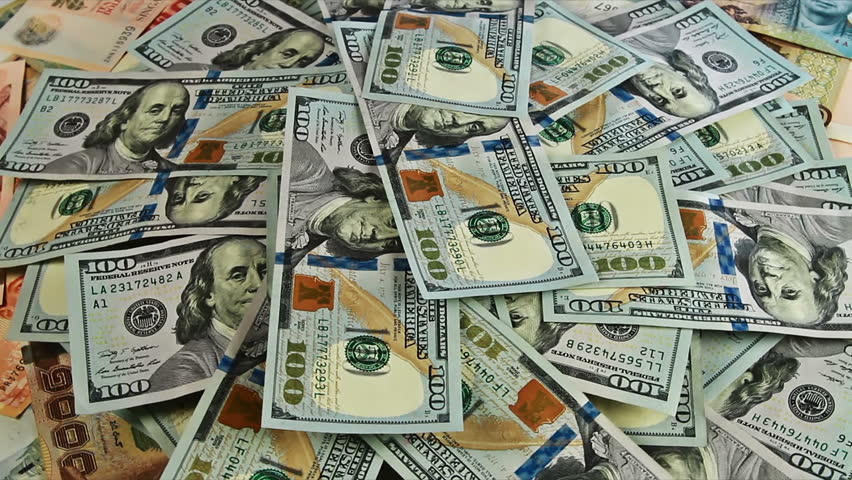 Cash Money Background Close-Up Rotation Stock Footage -2813