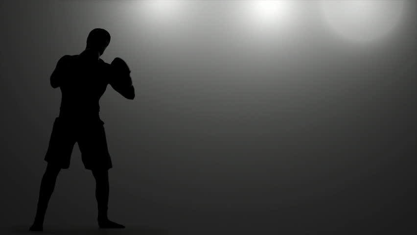 Boxer Spars Under Lights