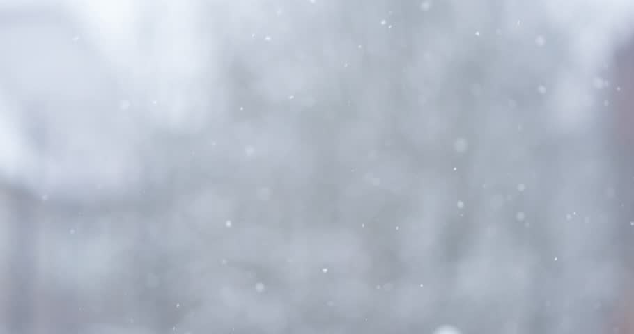 Winter snowfall. Snow Slow motion filmed at 120fps 4k 2160p UHD outdoors on natural background with shallow DOF, graded from RAW. Loopable  | Shutterstock HD Video #8686870