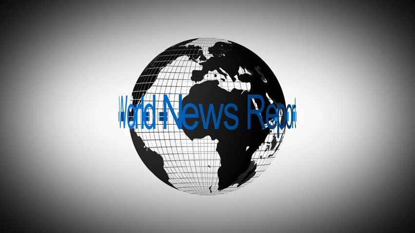 4k rotating world map grid with world news report loop | Shutterstock HD Video #8688100