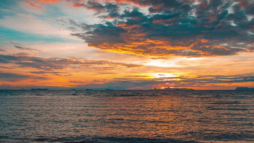 4K TimeLapse - 15 June 2014, Sunset in Taling Ngam beach, Samui island, Thailand