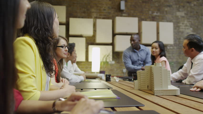 4K Team of architects in a design meeting | Shutterstock HD Video #8751250