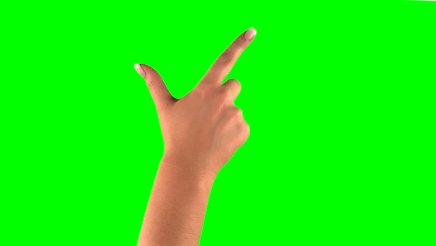 4k: female touchscreen gestures in 3840 x 2160. Set of hand gestures.  Showing the uses of computer touchscreen tablet trackpad or ipad with green screen. modern technology #8800930