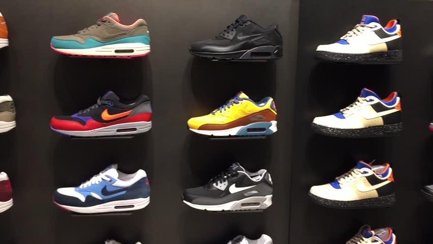 Macau China November 27 2015 Nike Symbol On The Street Nike Is