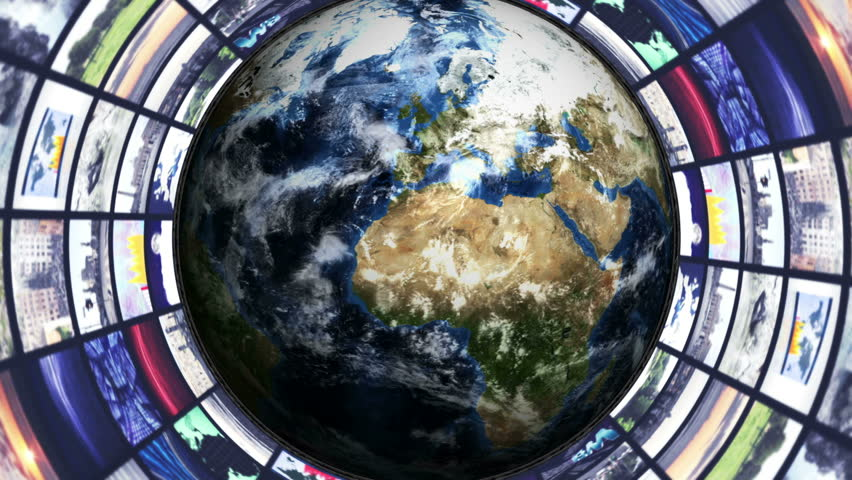 Earth and Monitor Tunnel Background | Shutterstock HD Video #8820460