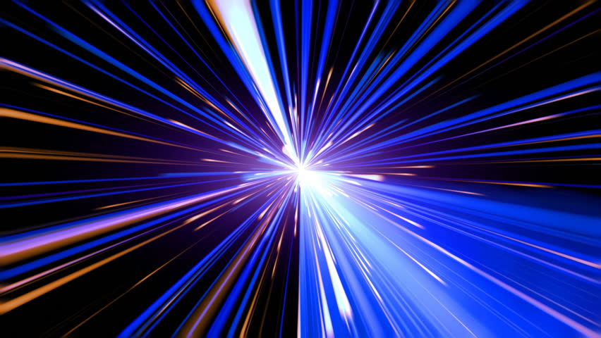 Abstract motion background, blue light streaks moving | Shutterstock HD Video #8835940