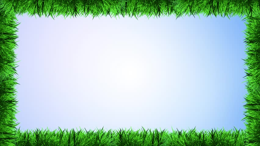 Border From Gleaming, Shining Frozen Pattern With Green