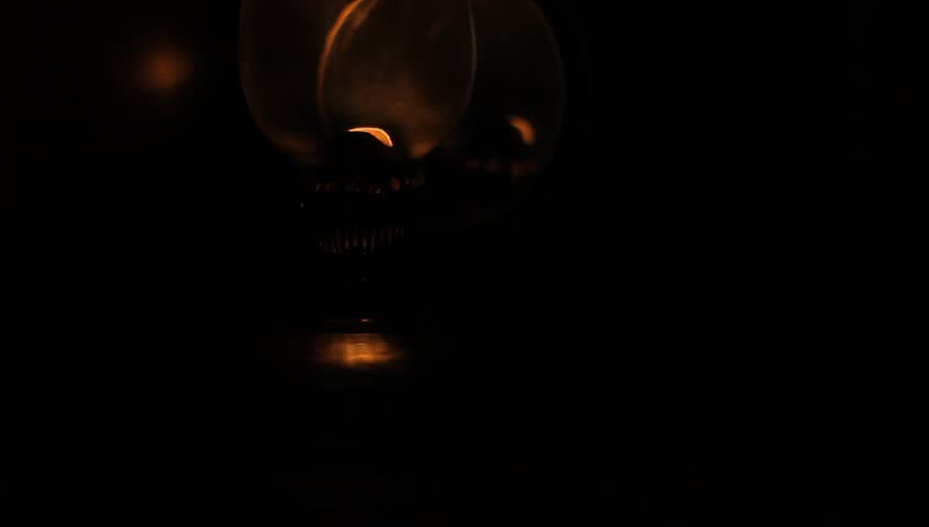 In A Dark Room, A Person Makes More Light Using The Old Gas Lamp. Stock  Footage Video 8930350 | Shutterstock