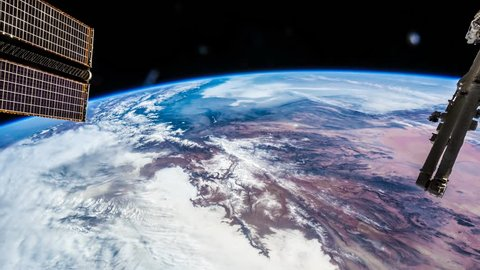 International Space Station ISS Earth View From Space, Iran To India.