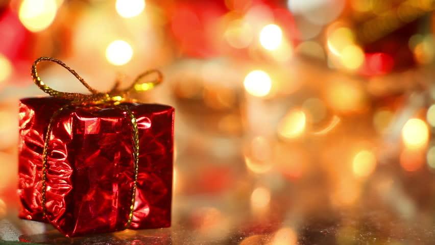 gift box holiday decoration close up seamless loop