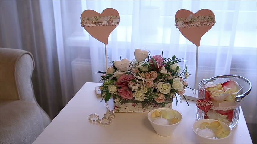 Amazing Candle Light Dinner Table Setting Part - 7: Wedding Decorations - HD Stock Video Clip