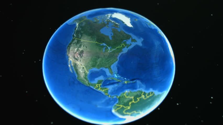 Earth Globe. Thanks NASA Stock Footage Video 256222