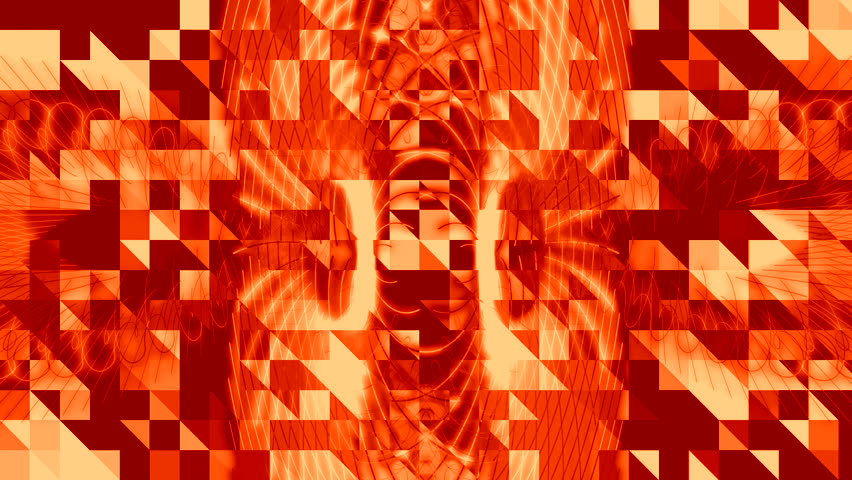 Burnt orange firery abstract pattern background | Shutterstock HD Video #8978410