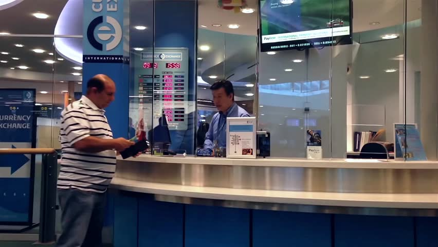 Vancouver Bc Canada September 13 2017 Foreign Currency Exchange Place Inside Yvr Airport In