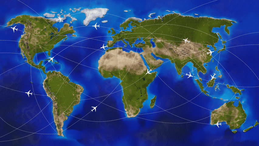 Physical World Travel Map With Stock Footage Video 100 Royalty
