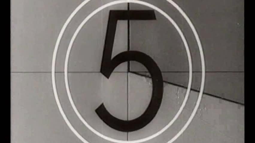 Vintage movie leader film countdown retro  | Shutterstock HD Video #9042364