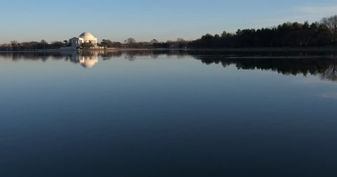 Very Wide Jefferson Memorial, Washington DC. Two shots in one with plenty of room for your graphics.