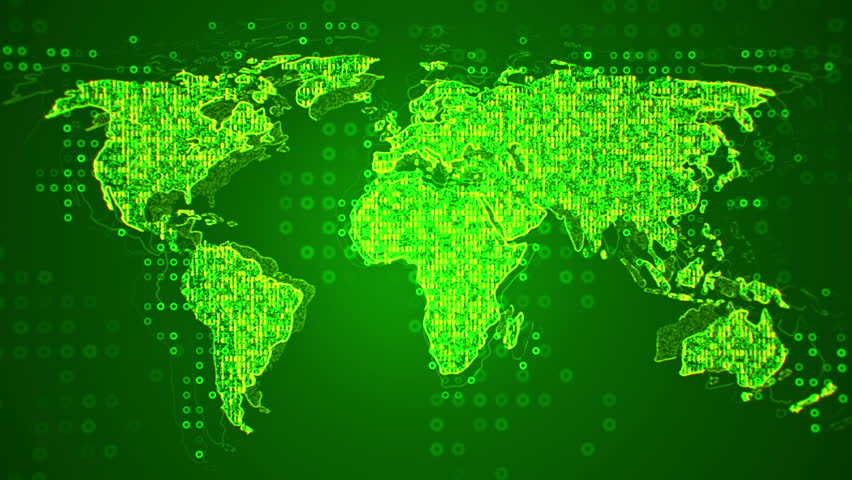 Abstract World Map Glow Particles Stock Footage Video 100 Royalty