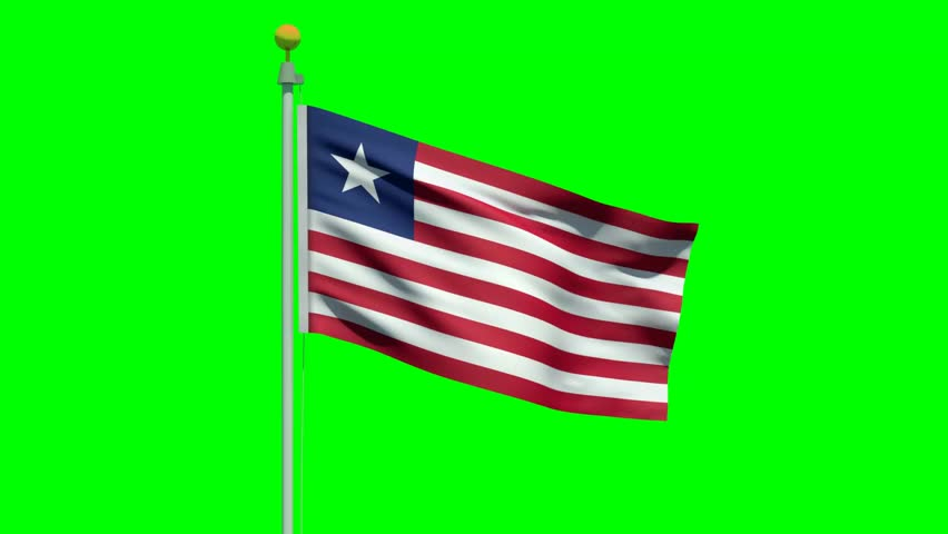 Flag of Liberia Waving in Stock Footage Video (100% Royalty-free) 9087830 |  Shutterstock