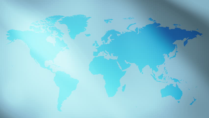 Technology Blue World Map Background Stock Footage Video 100