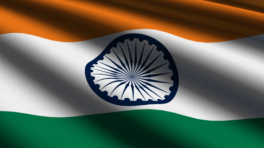 Indian Close Up Waving Flag Stock Footage Video 100 Royalty Free