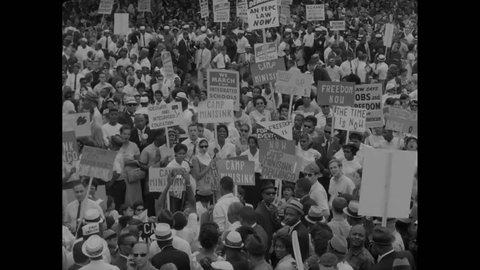 CIRCA 1960s - Marian Anderson sings at the March on Washington in 1963.