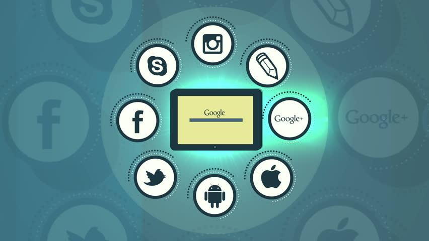 Shape animation. Social Media Apps #9189038