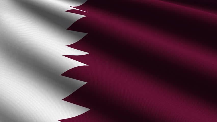 Qatar Close up waving flag - HD loop