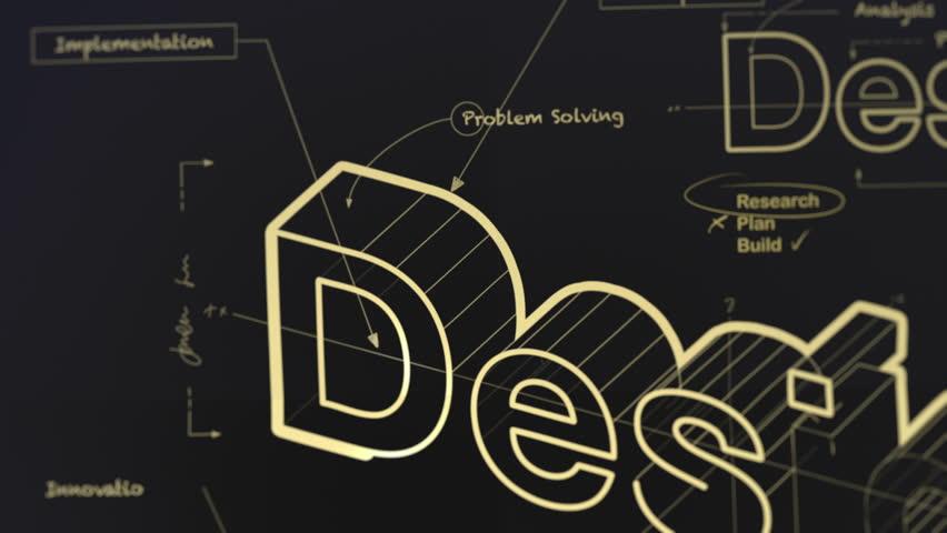 A Blueprint for Design Gold Version 4K | Shutterstock HD Video #9227648