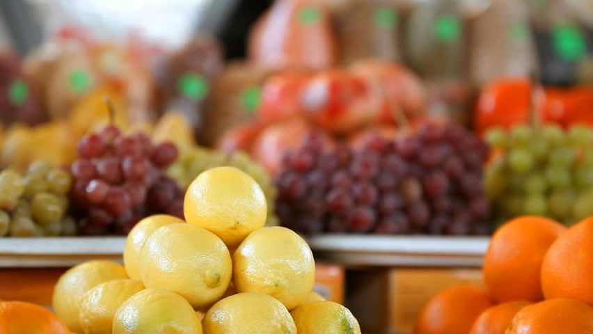 Beautiful dynamic view of healthy fruits food   Shutterstock HD Video #9236360