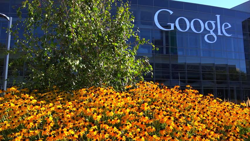 SILICON VALLEY, CALIFORNIA - CIRCA 2014 - Establishing shot of Google Headquarters in silicon valley, California.